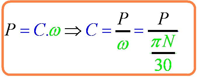 Calcul couple moteur electrique